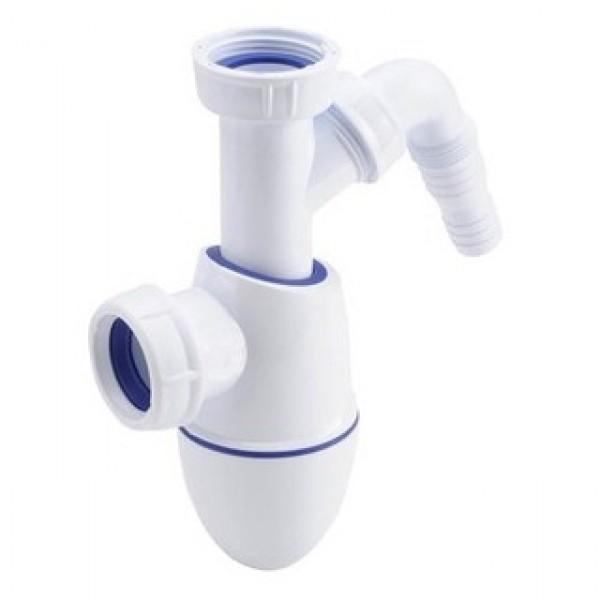 Сифон бутылочный с отводом для бытовой техники Nicoll BM20/0201303