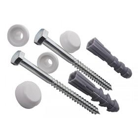 Крепеж вертикальный для унитаза или биде,белый , в комплекте -2 шт /К01/