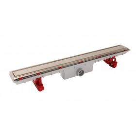 Дренажный канал для душа 800х95 мм, пластик+нержавеющая решетка REVERSIBLE, слив D40 гайка, ножки регулируемые, комплект /SICANC8OR/