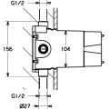 Внутренняя часть для смесителя Hansavario 02000100 HANSA