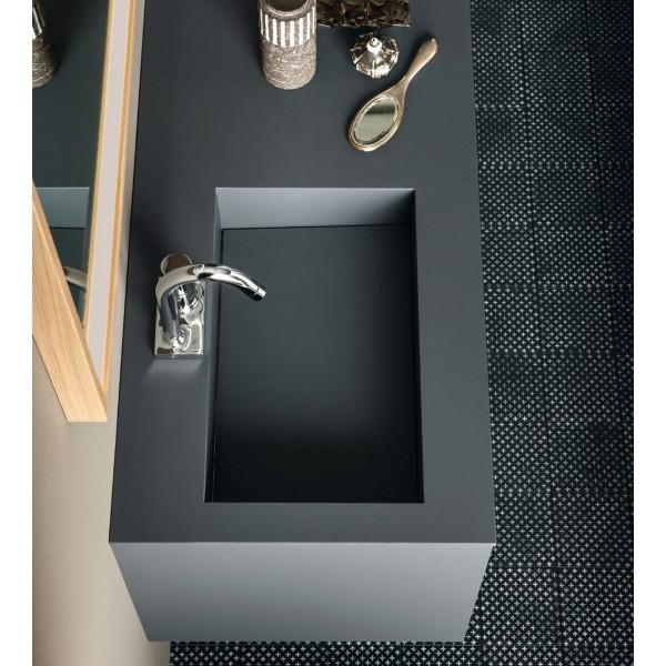 Столешница с раковиной ARBI Materia 07 Fenix Grigio Bromo 120x50 см F668