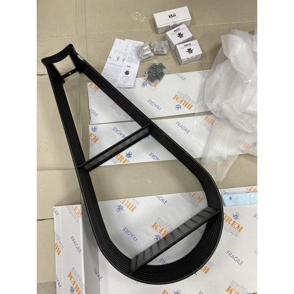 Водяной полотенцесушитель Brem Alcova 100 черный матовый RAL 9005M