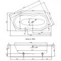 BetteMetric 6840 Ванна прямоугольная 206х90х45 см