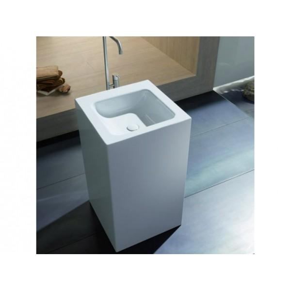 Раковина BetteOne Monolith 50х50 см, белая, сталь-эмаль, отдельностоящая, с грязеотталкивающим покрытием /А144 PW/