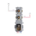 Внутренняя часть для смесителя на 2 потребителя F2462M