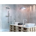 Душевой гарнитур (стойка, шланг 1500 мм, держатель для душа, ручной душ) полированный никель /F2150SN/