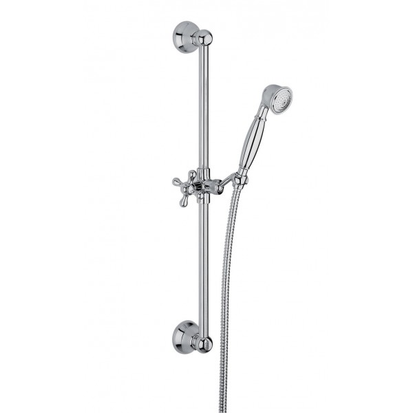 Душевой гарнитур  Lamp (стойка, шланг 1500 мм, ручной душ, держатель ручного душа) хром /F2044CR/