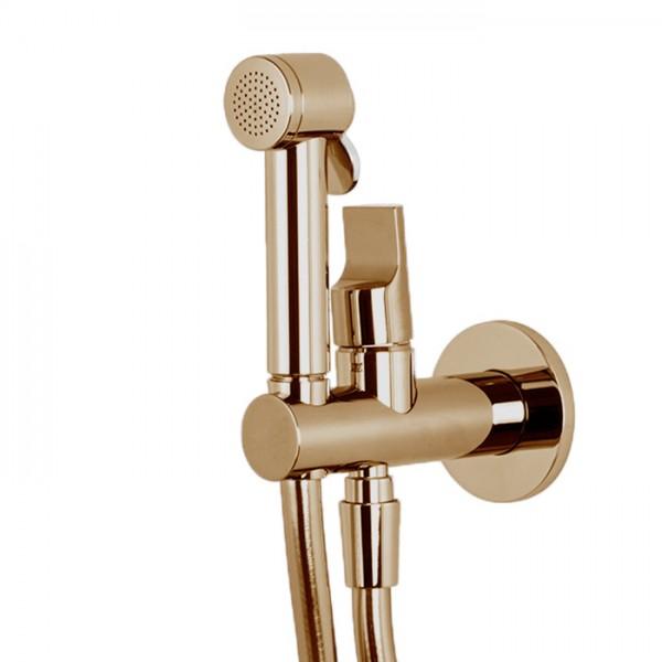 Гигиенический душ со смесителем без внутренней части брашированное золото Carlo Frattini F2310/1NOS