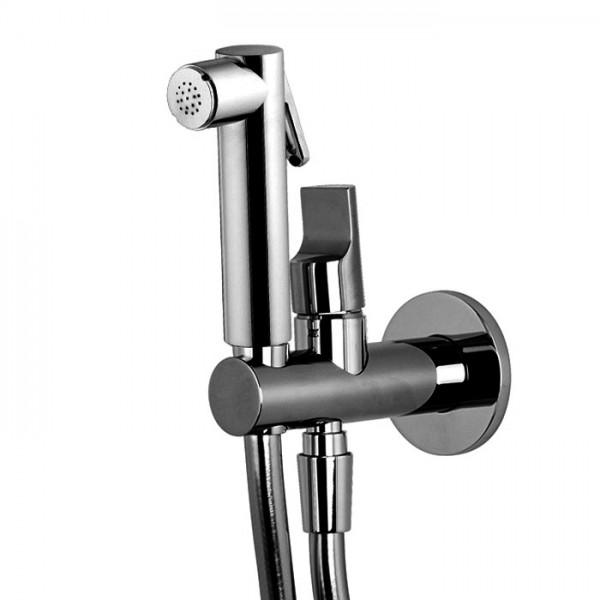 Гигиенический душ с гидроёршиком в цвете БРАШИРОВАННЫЙ ЧЁРНЫЙ ХРОМ Carlo Frattini F2320/1NCS