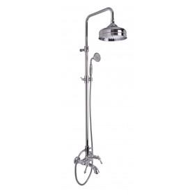 Душевая стойка  Epoque для ванны в ком-те:шланг, ручной душ, верхний душ-круглый, золото /5054/2ОR/