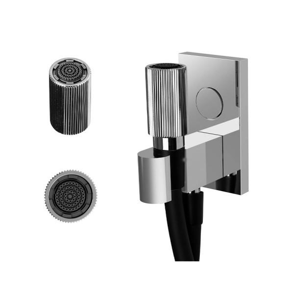 Ручной душ с держателем и подводом воды Carlo Frattini Switch F5925CR