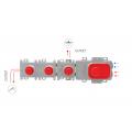Горизонтальная внутренняя часть для смесителей Carlo Frattini с термостатом F2462\1
