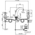 Смеситель бронзовый для раковины Carlo Frattini Elizabeth F5101BR, на три отверстия