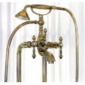 Смеситель бронзовый для ванны с душевым гарнитуром Carlo Frattini Epoque F5054BR Carlo Frattini