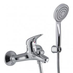 Смеситель хромированный для ванны с душевым гарнитуром Carlo Frattini Serie18 F3284CR