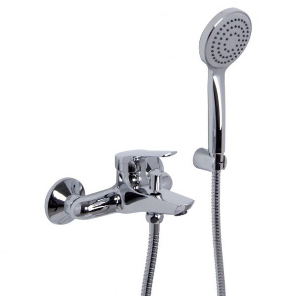 Смеситель хромированный для ванны с душевым гарнитуром Carlo Frattini Serie4 F3764 CR