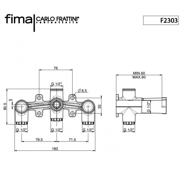Внутренняя часть для Switch Carlo Frattini F2303