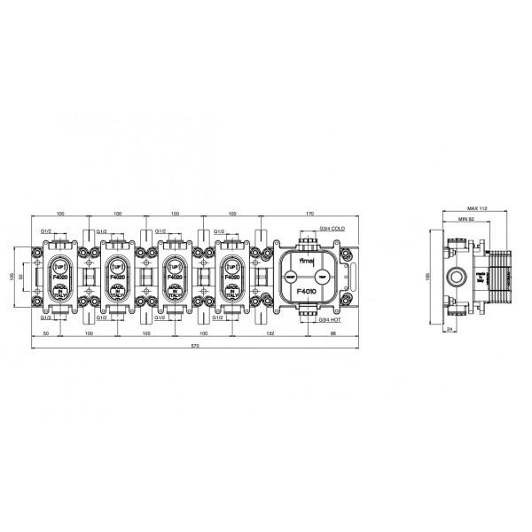 Внутренняя часть для Switch Carlo Frattini F5934