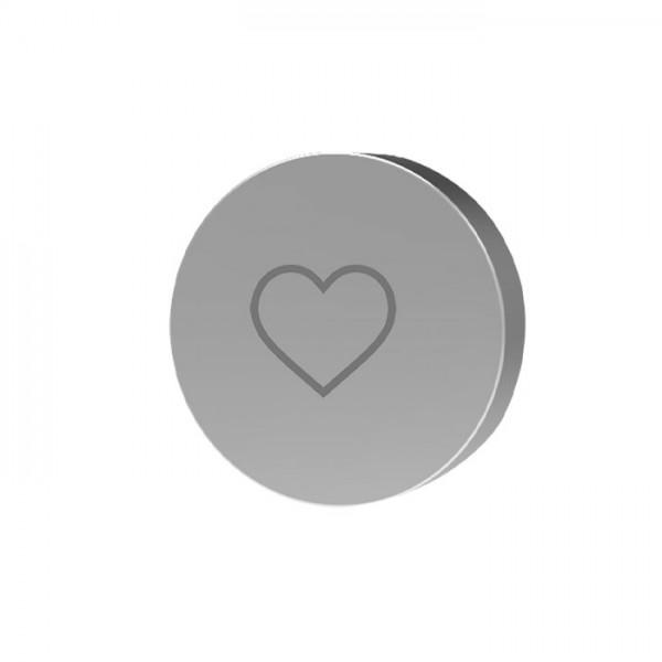 Кнопка с иконкой сердце Switch Carlo Frattini Fima F5980/4CR