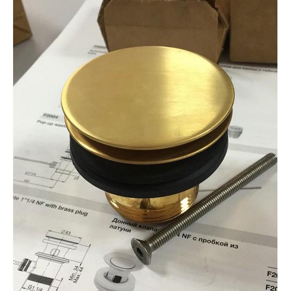 Донный клапан Carlo Frattini брашированное золото F2677 ОS