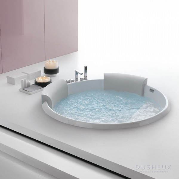 Ванна круглая Hafro Bolla 160 с каркасом и сливом 2BOA1N2