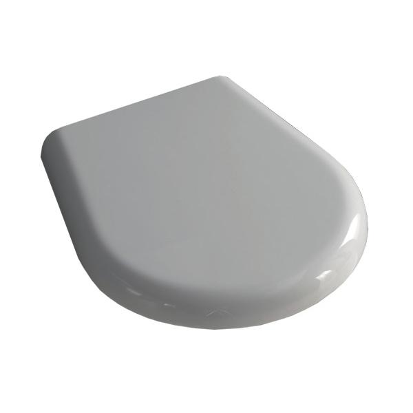 Крышка-сиденье для унитаза K09, белая, soft close, пластик /368801/