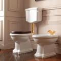 Унитаз напольный приставной RETRO без бачка,выпуск в стену P, белый ,керамика /101101/