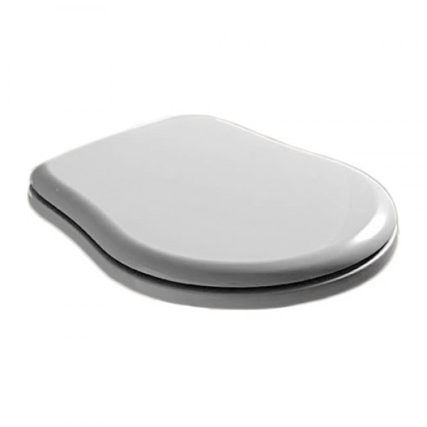 Крышка для унитаза RETRO, белая, пластик, крепеж-бронза/109301/