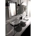 Зеркало RETRO 70*100, серебрянная рамка /736502/