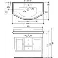 Мебель 100 см Kerasan Retro без раковины 734740