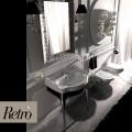 Мебель под раковину RETRO на 73 см, белая с хромированными ножками  /7362 К5/