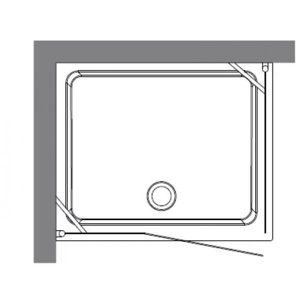 Душевой уголок RETRO 100х100 квадрат, стекло матовое, профиль бронза S3,  /9149S3/