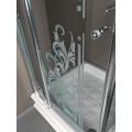 Душевой уголок Kerasan Retro 9149N3/1340 с одной распашной дверью 100х100 см ВИТРИННЫЙ ОБРАЗЕЦ