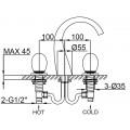 Смеситель для раковины золотой Maier Murano 79075P O/NG Maier
