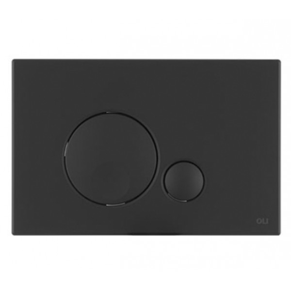 Смывная клавиша черная OLI GLOBE 152952 Soft-touch МЕХ