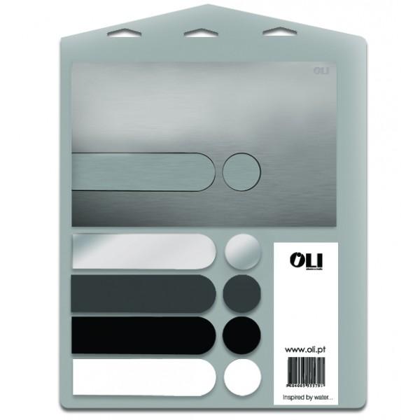 Oli I-plate 018158 Панель с двойным смывом и комплект кнопок Elegance