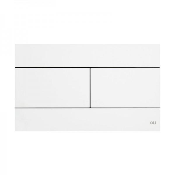Смывная клавиша белая OLI SLIM 659041