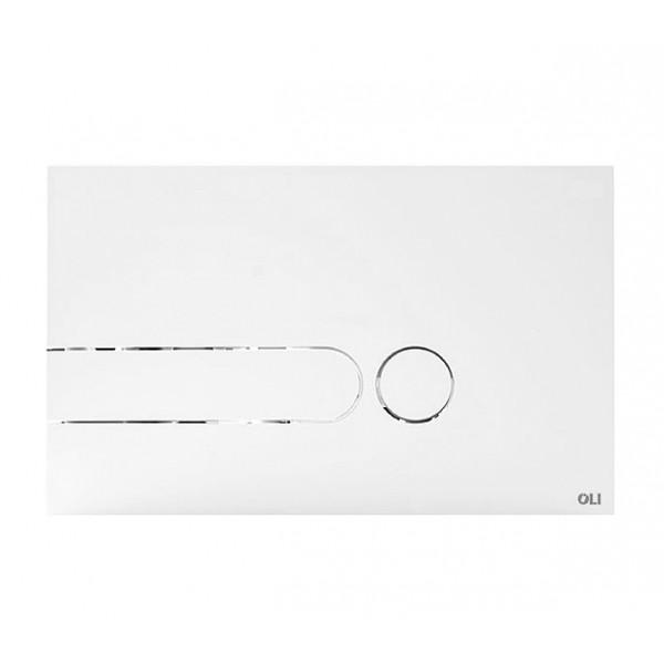 Смывная клавиша белая OLI I-PLATE 670001 МЕХ