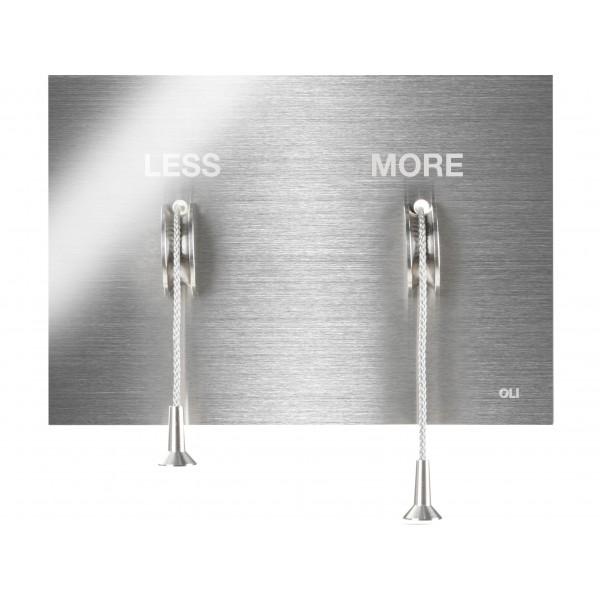 Накладная металлическая панель смыва с веревочками OLI Less is More 883525 MEX