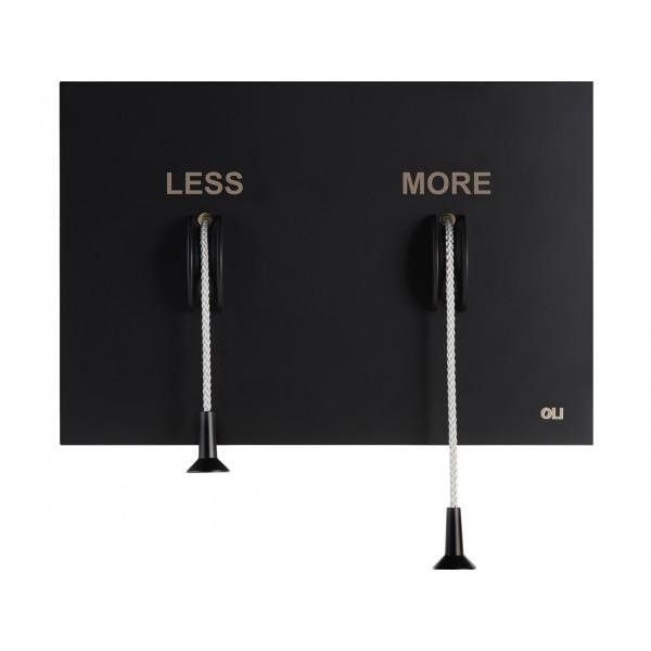 Накладная металлическая панель смыва с веревочками OLI Less is More 883527 MEX