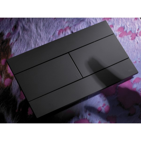 Смывная клавиша черная OLI SLIM 659055