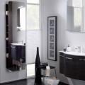 SOLITAIRE 6900 Зеркальный шкаф 1680х450х205, открытый, семь полок,на основе - корпус декор натуральный с поперечной структурой, Comfort N /NT-SPR 01/