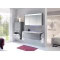 SOLITAIRE 7025 Зеркальный шкаф 701х720х180 копус белый, фасад зеркало,две дверцы, светод.полоса в карнизе,датчик движения,Comfort E 7025-SPS05-R-18