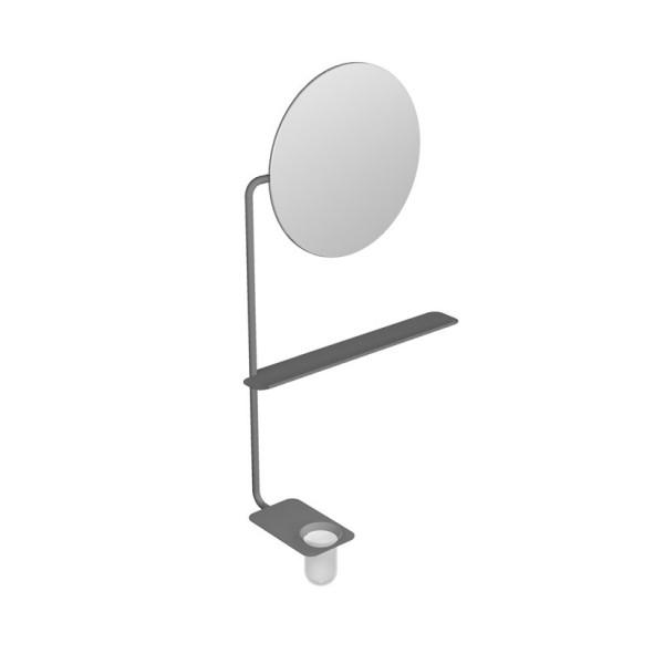 Fold Scarabeo Зеркало круглое с полкой и подстаканником 2302 TRT