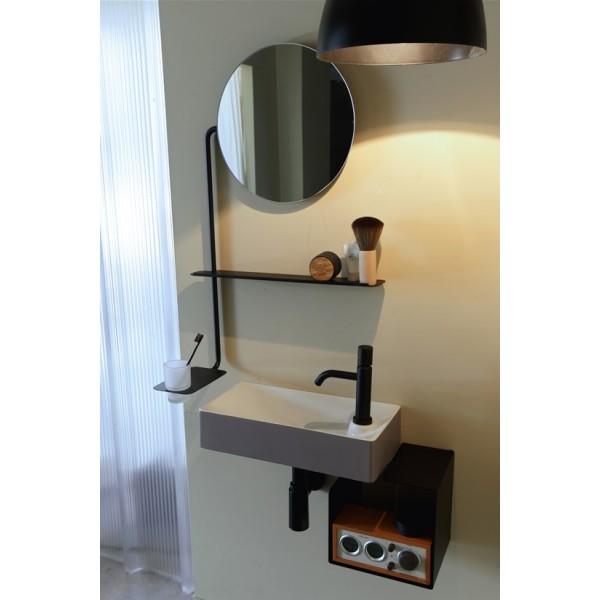 Fold Scarabeo Зеркало круглое с полкой и подстаканником 2302 NROP