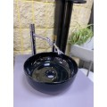 Раковина чаша чёрная Glam Scarabeo d33 см 180835