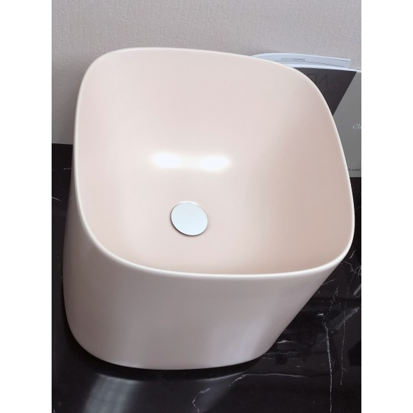 Раковина розовая матовая Scarabeo Moon 42х42x40 см 550354
