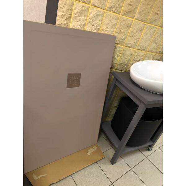 Душевой поддон керамический коричневый Scarabeo Step 120x80x3 см Tortora Matt 3010 TRMO7