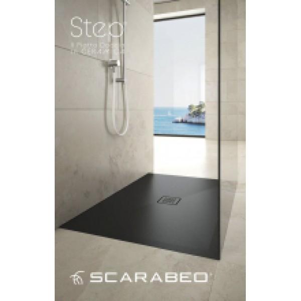 Душевой поддон Scarabeo Step 120x80x3 см Grey 3010 NRM23