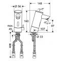Электронный смеситель для раковины со смешиванием SCHELL PURIS E 012010699